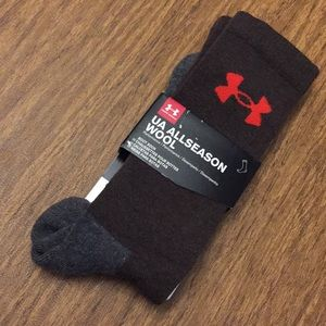 UNDER ARMOUR All seasons wool boot socks men's L